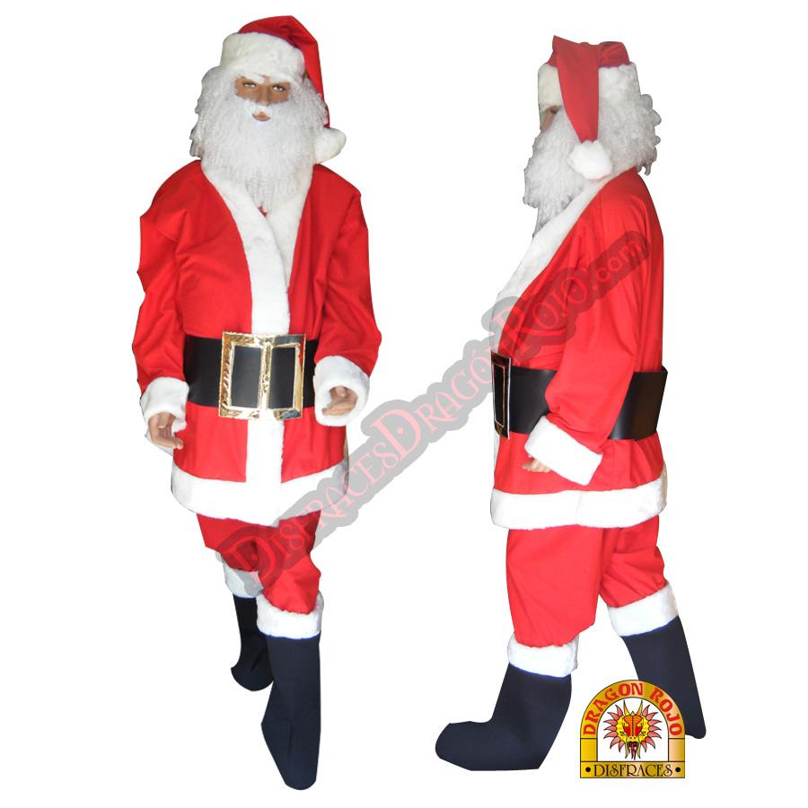 Disfraz de santa claus profesional adulto navidad - Trajes de papa noel para ninos ...